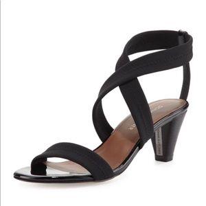 Donald J Pliner Vona Stretch Black Sandals Size 7